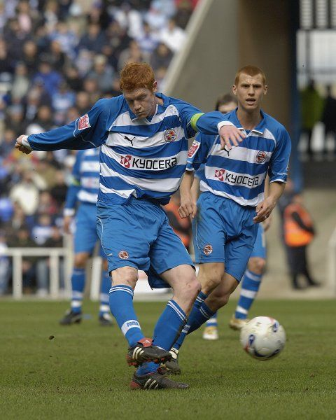 Dave Kitson strikes for goal against Derby County