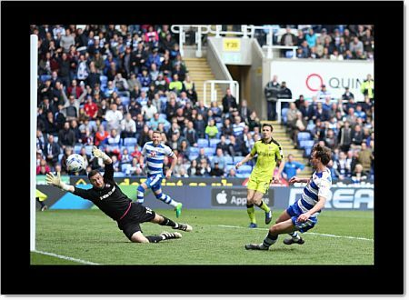 Reading's John Swift scoring his side's second goal of the game