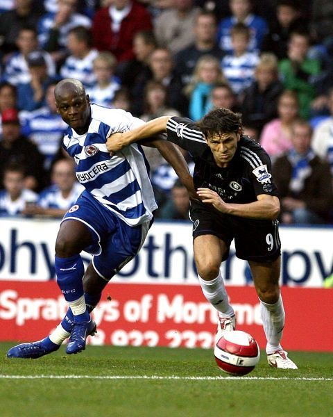 Leroy Lita battles for the ball with Khalid Boulahrouz in the 1-0 defeat against Chelsea