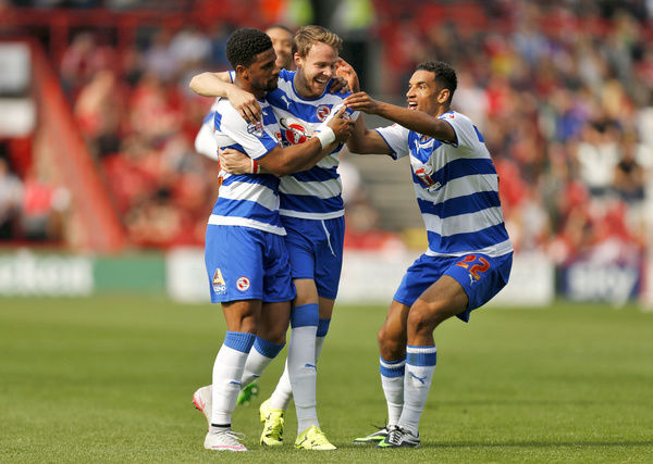 Reading's Garath McCleary celebrates scoring their second goal