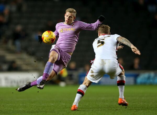 Reading's Matej Vydra in action