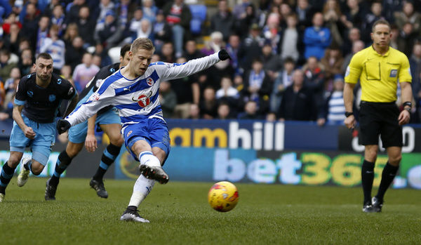 Reading's Matej Vydra has a penalty saved