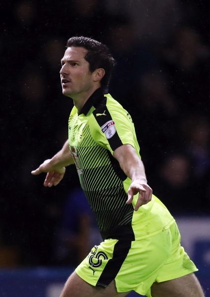 Reading's Yann Kermorgant celebrates scoring his side's first goal of the game during the Sky Bet Championship match at Hillsborough, Sheffield