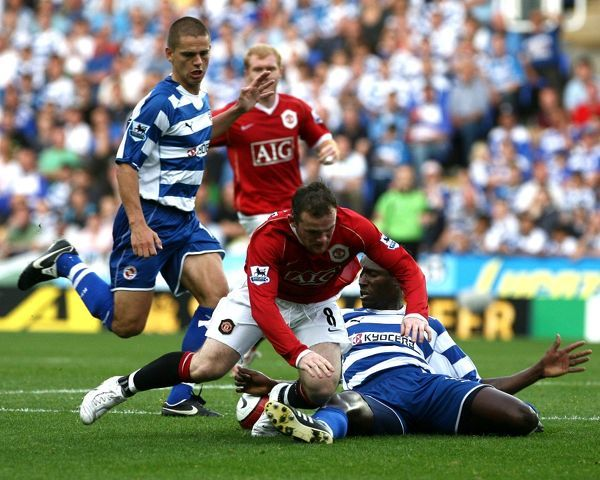 Sonko stops Rooney. Ibrahima Sonko stops Wayne Rooney on the edge of the box