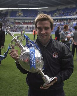 Bobby Convey and Championship Trophy