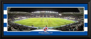 Match at Night Framed Panoramic Photograph