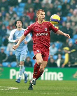Steve Sidwell at the City of Manchester Stadium.